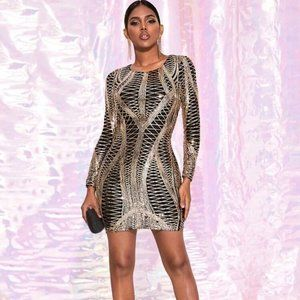 Dresses & Skirts - Sexy Metallic Dress